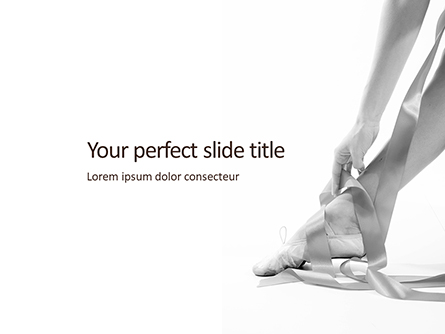 The Grace of Ballet Presentation Presentation Template, Master Slide