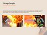 Working Fireman Surrounded by Smoke Presentation slide 11
