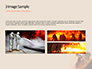 Working Fireman Surrounded by Smoke Presentation slide 12