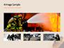 Working Fireman Surrounded by Smoke Presentation slide 13