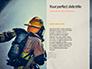 Working Fireman Surrounded by Smoke Presentation slide 9