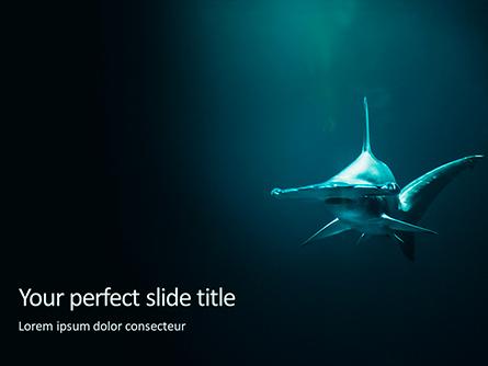 Hammerhead Shark in Deep Water Presentation Presentation Template, Master Slide