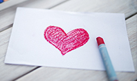 Heart Shape Drawn on Sheet of Paper Presentation Presentation Template
