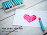 Heart Shape Drawn on Sheet of Paper Presentation slide 1