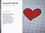 Heart Shape Drawn on Sheet of Paper Presentation slide 9