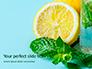 Cucumber Lemon and Mint Water Presentation slide 1