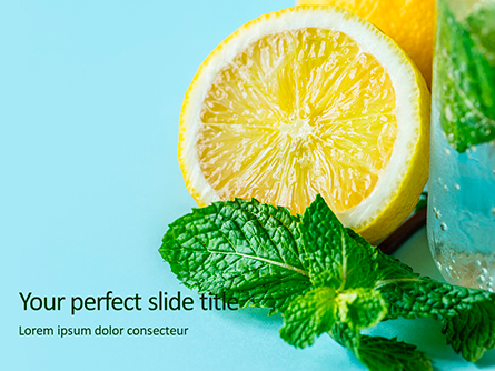 Cucumber Lemon and Mint Water Presentation Presentation Template, Master Slide