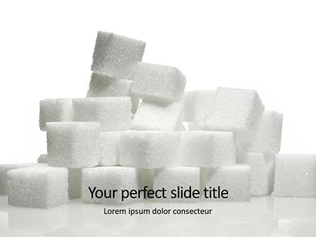 Lump Sugar Cubes Presentation Presentation Template, Master Slide