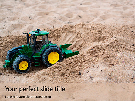 Toy Tractor in Sand Presentation Presentation Template, Master Slide