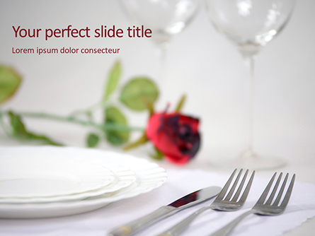 Two Fork Beside Butter Knife on the Table Presentation Presentation Template, Master Slide