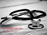 Medical Stethoscope on Hospital Bed Presentation slide 1