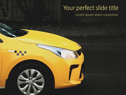 Yellow Taxi Cab Presentation Presentation Template, Master Slide