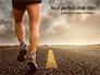 Low Angle View of Man Running on Asphalt Road Presentation slide 1