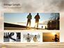 Low Angle View of Man Running on Asphalt Road Presentation slide 13