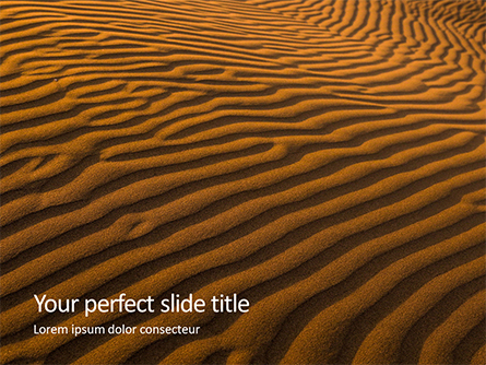 Patterns on Sand Presentation Presentation Template, Master Slide