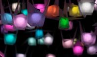 Colorful Paper Crane Lanterns Presentation Presentation Template