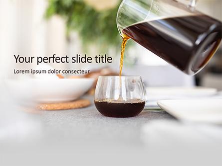 Morning Coffee Presentation Presentation Template, Master Slide