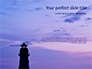 Lighthouse Silhouette Against Purple Sky Presentation slide 1