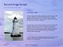 Lighthouse Silhouette Against Purple Sky Presentation slide 15