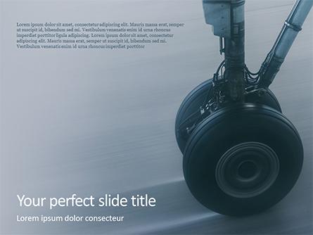 Landing Gear Closeup Presentation Presentation Template, Master Slide