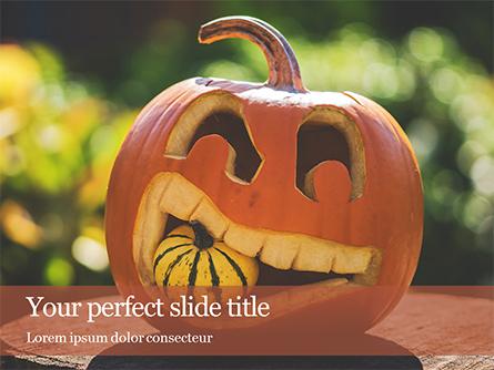 Halloween Carved Pumpkin Presentation Presentation Template, Master Slide