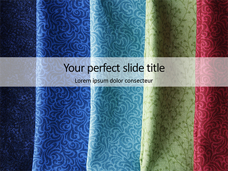 Colorful Silk Fabric Presentation Presentation Template, Master Slide
