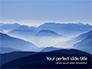 Mountain Peaks in Blue Morning Fog Presentation slide 1