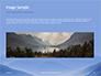 Mountain Peaks in Blue Morning Fog Presentation slide 10