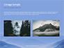 Mountain Peaks in Blue Morning Fog Presentation slide 11