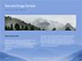 Mountain Peaks in Blue Morning Fog Presentation slide 14