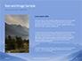 Mountain Peaks in Blue Morning Fog Presentation slide 15