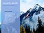 Mountain Peaks in Blue Morning Fog Presentation slide 9