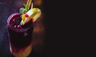 Cocktail with Pomegranate Juice and Lemon Presentation Presentation Template