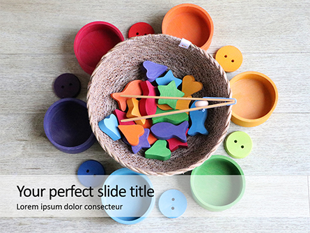 Bowl with Colorful Accessories Presentation Presentation Template, Master Slide