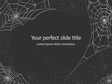 Cobweb Background Presentation Presentation Template, Master Slide
