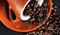 Coffee Beans Spilled From a Cup Presentation Presentation Template