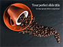Coffee Beans Spilled From a Cup Presentation slide 1