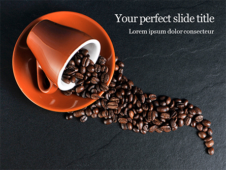 Coffee Beans Spilled From a Cup Presentation Presentation Template, Master Slide