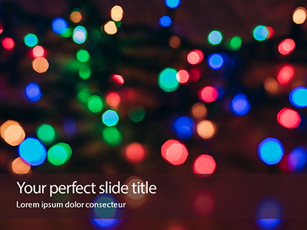 Strands of Holiday Lights Presentation Presentation Template, Master Slide