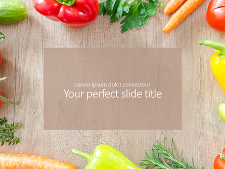Frame of Organic Vegetables Presentation Presentation Template, Master Slide