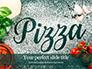 Pizza-Sign with Flour Tomato-Sauce Garlic and Mozzarella Presentation slide 1
