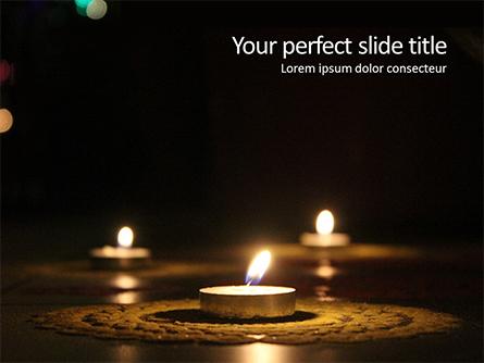 Candles Lit on Occasion of Diwali Festival Presentation Presentation Template, Master Slide