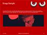 Cartoon Evil Red Eyes on Red Background Presentation slide 10