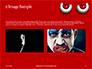 Cartoon Evil Red Eyes on Red Background Presentation slide 11