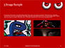Cartoon Evil Red Eyes on Red Background Presentation slide 12