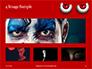 Cartoon Evil Red Eyes on Red Background Presentation slide 13