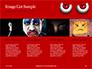 Cartoon Evil Red Eyes on Red Background Presentation slide 16