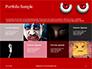 Cartoon Evil Red Eyes on Red Background Presentation slide 17