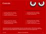 Cartoon Evil Red Eyes on Red Background Presentation slide 2