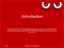 Cartoon Evil Red Eyes on Red Background Presentation slide 3